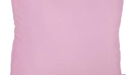 Růžový povlak na polštář Apolena Simple Pink, 41x41cm