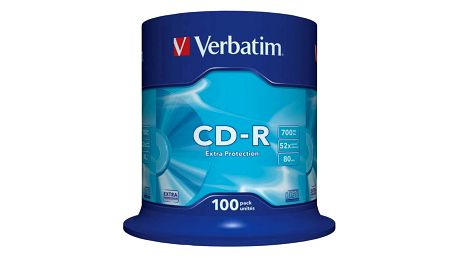 Disk Verbatim CD-R 700MB/80min, 52x, Extra Protection, 100-cake (43411)