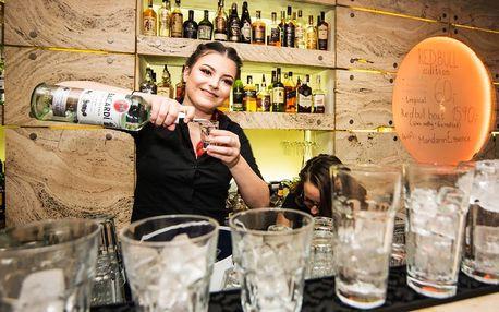 1, 2 či 4 oblíbené míchané drinky v centru Brna