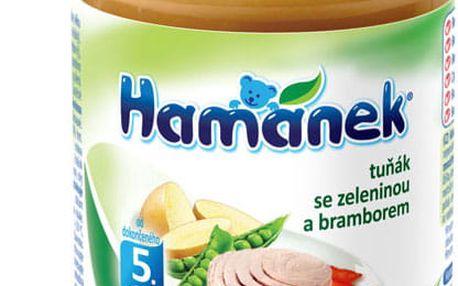 6x HAMÁNEK Tuňák se zeleninou a brambor (190 g) - maso-zeleninový příkrm