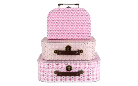 sass & belle Kufřík Retro Daisy - 3 velikosti Velikost L, růžová barva, papír