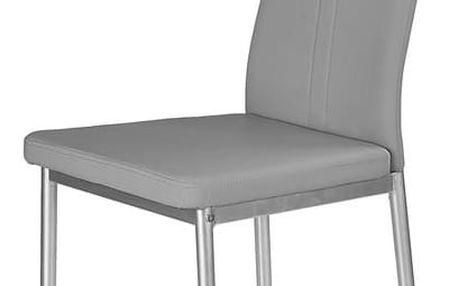 Jídelní židle K202 šedá Halmar