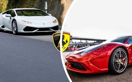 Jízda v super Lamborghini a Ferrari