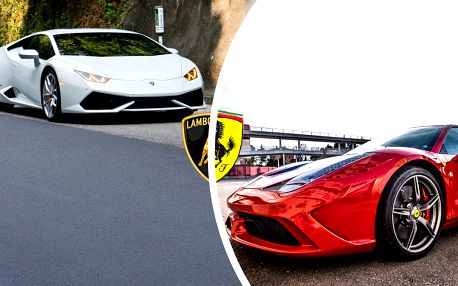 Jízda se 2 luxusními sporťáky: Lamborghini vs Ferrari