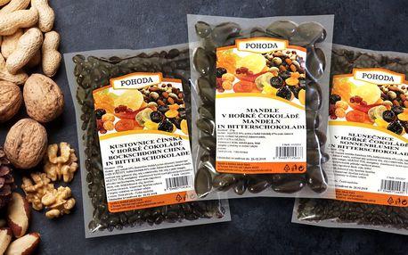 Ovoce a oříšky v hořké čokoládě: mlsání je radost