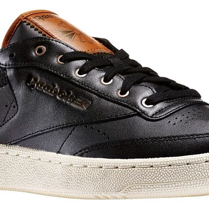 Boty Reebok Club C 85 PL black-paperwhite-brown malt-antqcppr 46