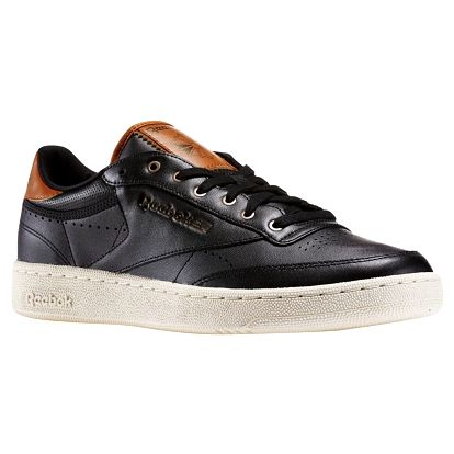 Boty Reebok Club C 85 PL black-paperwhite-brown malt-antqcppr 41