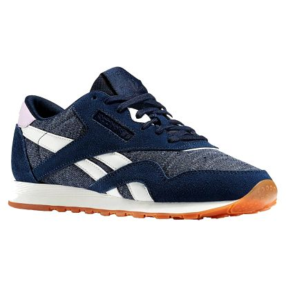 Boty Reebok CL Nylon WR navy-slate-chalk-purple 40