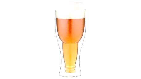 Dvojitá pivní sklenice Vialli Design,350ml