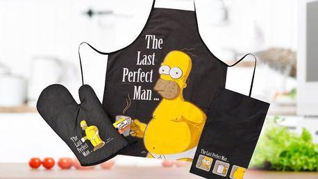 Zástěra, chňapky a utěrky Homera Simpsona
