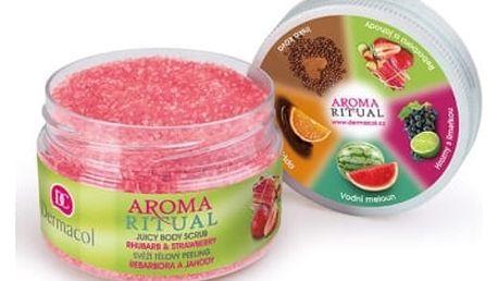 Dermacol Aroma Ritual Rhubarb & Strawberry 200 g tělový peeling pro ženy