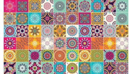 Sada 60 samolepek Ambiance Vintage Colourful