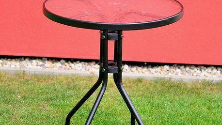 Tradgard ZWT-03 Zahradní stůl se skleněnou deskou - 60cm