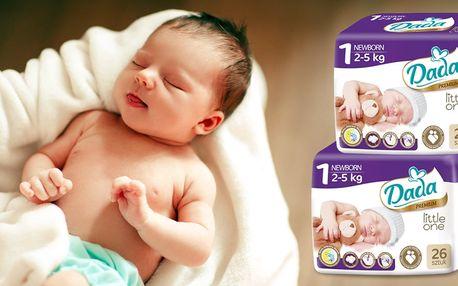 Aby byly děti v suchu: zásoba novorozeneckých plenek DADA do 5 kg