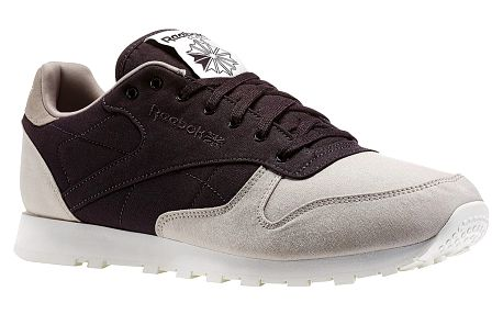 Boty Reebok CL Leather Clean sand stone-night violet 45,5