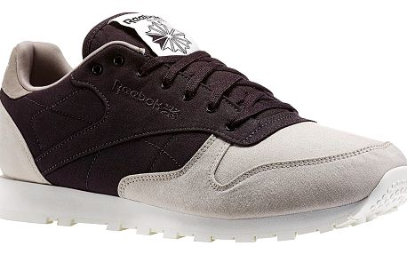Boty Reebok CL Leather Clean sand stone-night violet 45