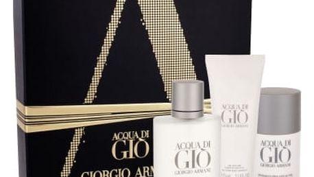 Giorgio Armani Acqua di Gio Pour Homme dárková kazeta pro muže toaletní voda 100 ml + deostick 75 ml + sprchový gel 75 ml