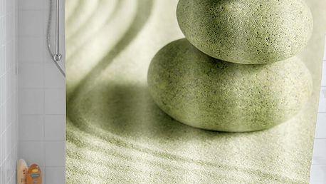 Sprchový závěs, textilní, Sand and Stone, 180x200 cm, WENKO