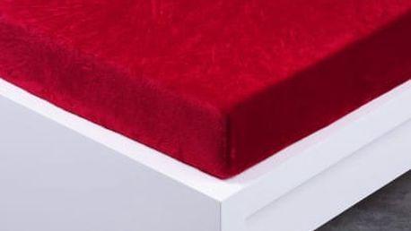 XPOSE ® Prostěradlo mikroflanel Exclusive dvoulůžko - vínová 180x200 cm
