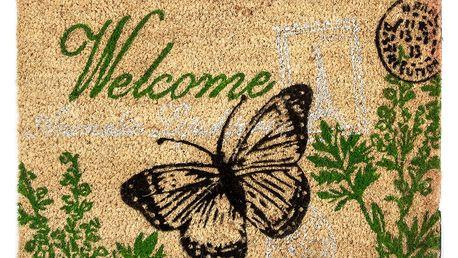 Trade Concept Kokosová rohožka Welcome motýl, 40 x 60 cm