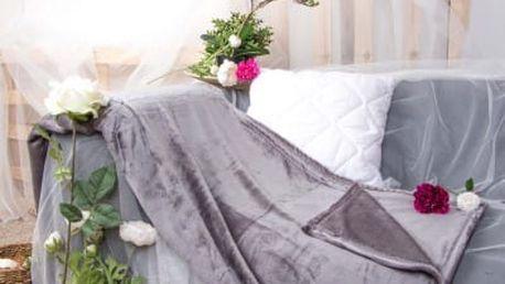 XPOSE ® Deka mikroplyš - tmavě šedá 200x230 cm