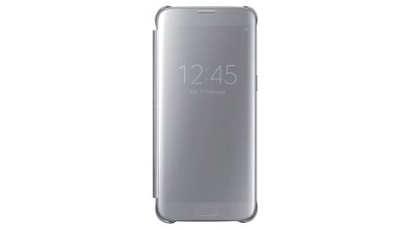 Pouzdro na mobil flipové Samsung Clear View pro Galaxy S7 Edge (EF-ZG935C) stříbrné (EF-ZG935CSEGWW)