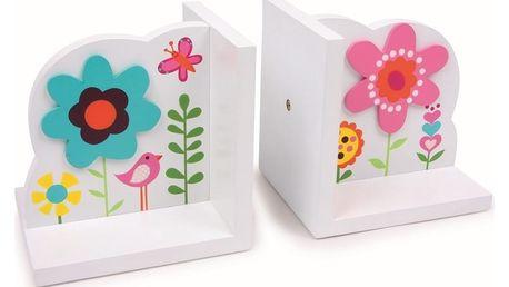 Dřevěná zarážka na knihy Legler Flower