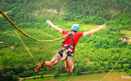 Volný pád ze 60 nebo 120 m – bungee z jeřábu