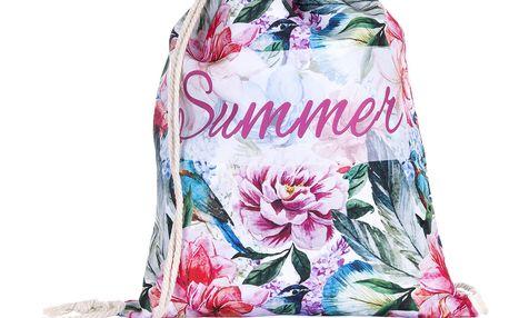 Fashion Icon Sportovní vak Summer Flowers zelené