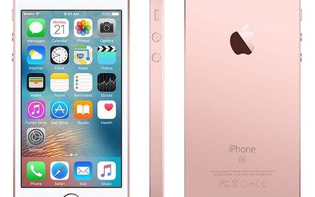 Mobilní telefon Apple iPhone SE 32 GB - Rose Gold (MP852CS/A) Power Bank Forever 10000 mAh 2xUSB šedá/bílá + DOPRAVA ZDARMA