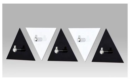 Nástěnné věšáky - set, černé a bílé / chrom, GC3511-5 Autronic