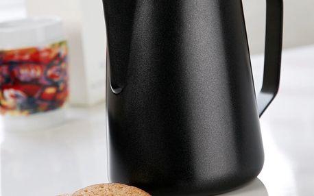 Černá nerezová mléčenka Steel Function, 1,5 l