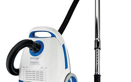Vysavač podlahový Gorenje Disco VCEB21DWB bílý/modrý