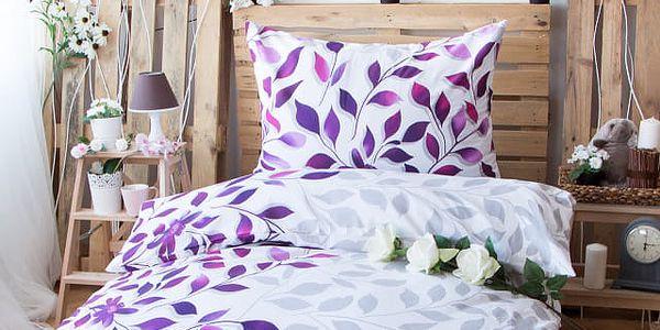 XPOSE ® Bavlněné povlečení na dvě lůžka IVANKA - fialová 140x200, 70x90