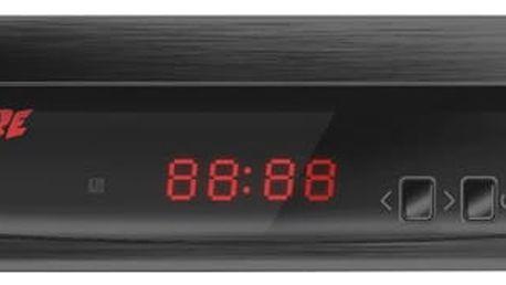 DVB-T2 přijímač Zircon FIRE s DVB-T2 s HEVC (H.265) černý