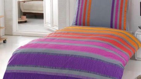 Night in Colors Bavlněné povlečení ELLE - lila 140x200, 70x90