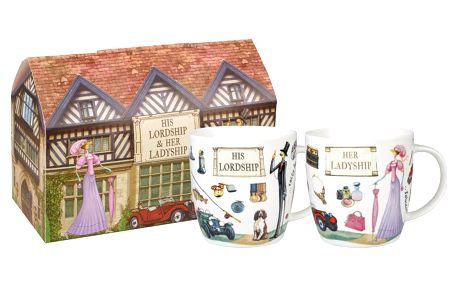 Sada 2 porcelánových hrnečků Churchill Ladyship and Lordship, 400 ml