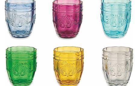 Sada 6 barevných sklenic na vodu Villa d'Este Bicchieri Syrah