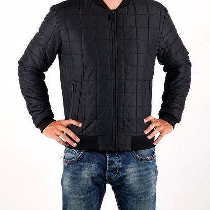 Bunda Superdry SURPLUS GOODS BOX QUILT BOMBER Černá