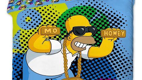 Jerry Fabrics Dětské povlečení Homer DJ, 140 x 200 cm, 70 x 90 cm