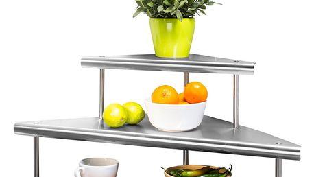 Rohová kuchyňská polička Massivo DUO, 2 úrovně, WENKO
