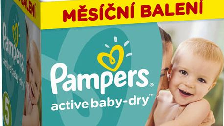 PAMPERS Active Baby 5 JUNIOR 150ks (11-18kg), MĚSÍČNÍ ZÁSOBA - jednorázové pleny
