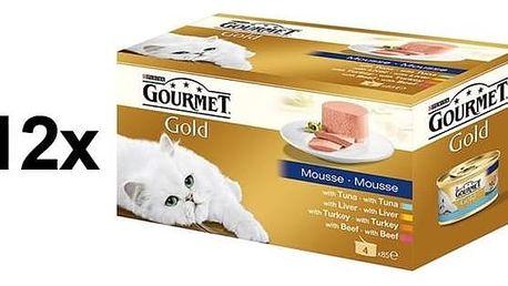Gourmet Gold jemná paštika Multipack 12 x (4 x 85g)