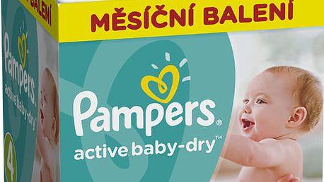 PAMPERS Active Baby 4 MAXI 174ks (8-14kg), MĚSÍČNÍ ZÁSOBA - jednorázové pleny