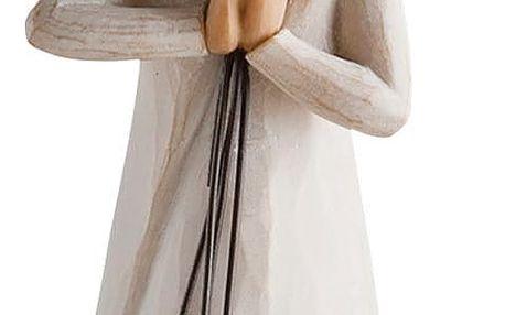 Willow Tree Willow Tree - Přátelství - závěsný, béžová barva, bílá barva, pryskyřice