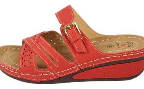 Dámské zdravotní pantofle KOKA 11 červené