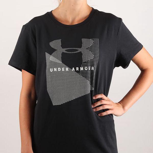 Tričko Under Armour Sportstyle Mesh Logo Crew Černá