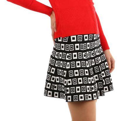 Retro sukně áčkového střihu černá