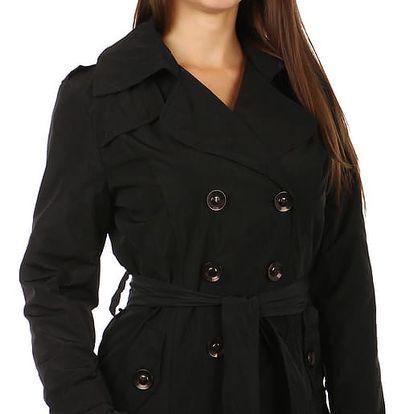 Dámský kabátek na knoflíky - černý černá