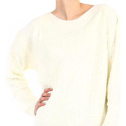 Dámský oversized svetr - i pro plnoštíhlé krémová